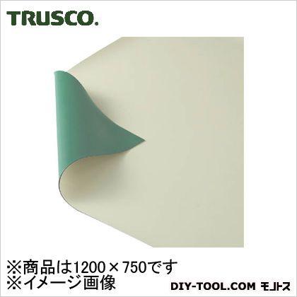トラスコ(TRUSCO) 作業台用静電マット1200X750グリーン/ベージュ TWGB-1275