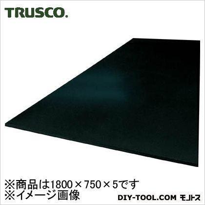 TRUSCO 作業台用ゴムマット1800X750X5黒  GM5D-1800