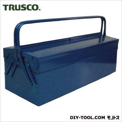 トラスコ 2段式工具箱 青  長さ600幅220高さ305 GL600B