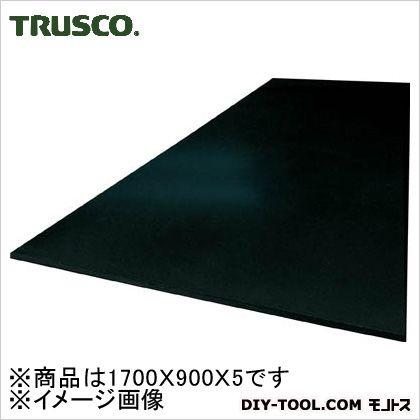 TRUSCO 作業台用ゴムマット1700X900X5黒  GL5D-1700
