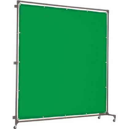 トラスコ 溶接遮光フェンス2020型接続 緑 YFASGN