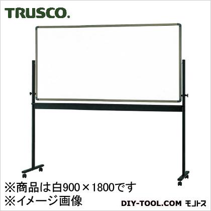 トラスコ(TRUSCO) 片面移動ボード無地ホーロー製ホワイトボード900X1800 YBM402(YBM-402