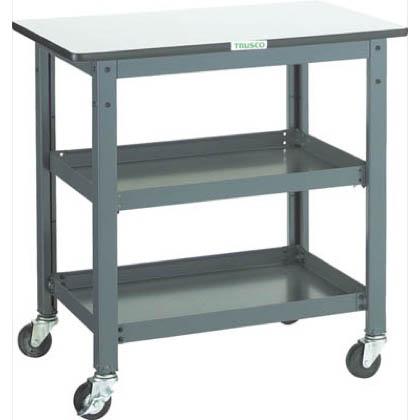トラスコ(TRUSCO) WHT型作業台補助テーブルワゴン750X600XH740 WHT-6075