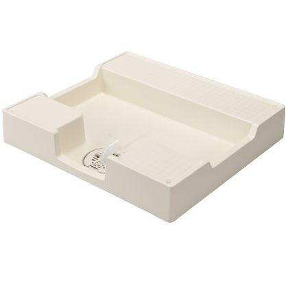 テクノテック かさ上げ防水パン 激安☆超特価 イージーパン アイボリーホワイト W700×D640×H120mm 1 完売 台 TPD700