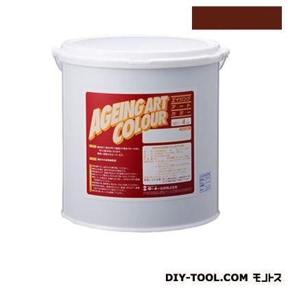 ターナー色彩 エイジングアートカラー 屋内外特殊塗装用水性塗料 低臭バーントシェナー 4kg SJB04369