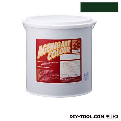 ターナー色彩 エイジングアートカラー 屋内外特殊塗装用水性塗料 低臭ミディアムグリーン 4kg SJB04374