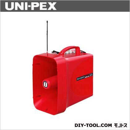 ユニペックス RainVoicer防滴スーパーワイヤレスメガホン サイレン付 赤色 幅218mm高さ371mm奥行き350mm TWB-300S 1 台
