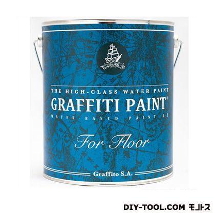 ビビットヴアン グラフィティーペイント フロア 床用水性塗料 黒 Lily 4L (GFF-34) VIVID VAN 塗料 水性塗料
