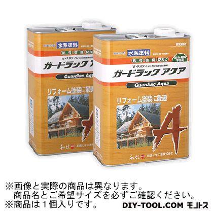 和信化学工業 ガードラックアクア W・Pステイン(木材保護塗料) A-7 オリーブ 3.5Kg 58808