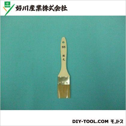 好川産業 白毛金巻ラック刷毛(豚毛) 15号 ハケ 筆