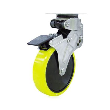 ユーエイ 緩衝キャスターS付自在車 帯電防止ウレタン車輪 100径 NPG100SUES2