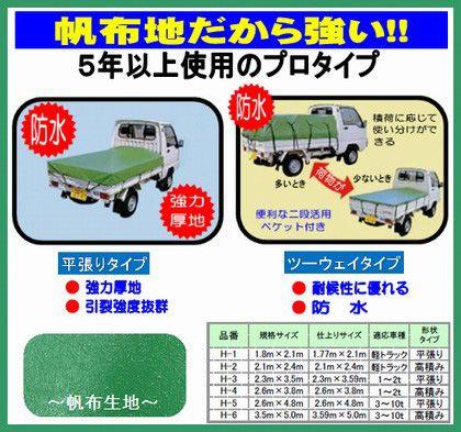 ユタカメイク トラックシート帆布 グリーン 2.6m×4.8m H-5