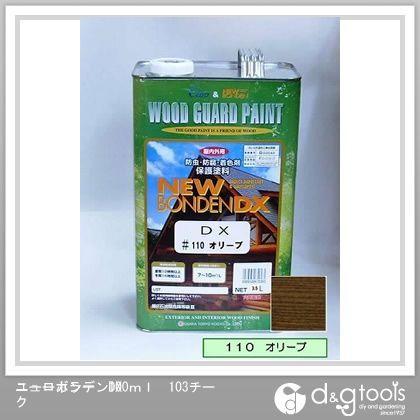 カクマサ/大阪塗料 ニューボンデンDX 木材保護塗料(防虫防腐着色塗料) オリーブ 3.5L  110