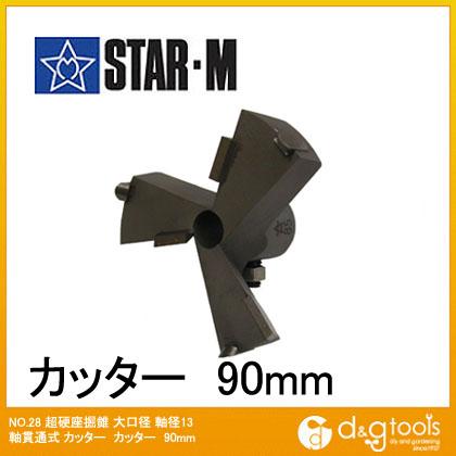スターエム 超硬座掘錐 大口径 カッター 90mm (28L-C900)