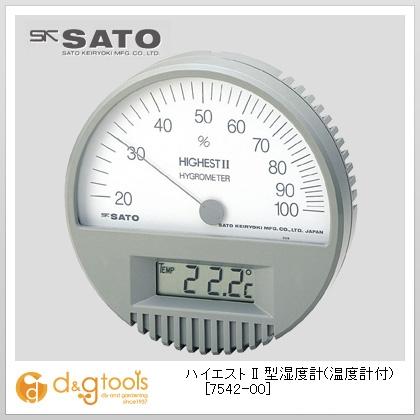 SATO ハイエスト II 型湿度計(温度計付)  7542-00