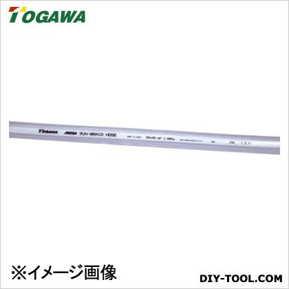 十川産業 スーパーサンブレー(MEGA)ホース 青透明 12×18×100m SB-12
