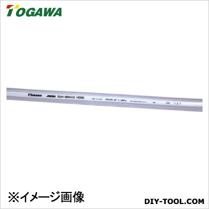 十川産業 スーパーサンブレー(MEGA)ホース 青透明 22×29×50m SB-22