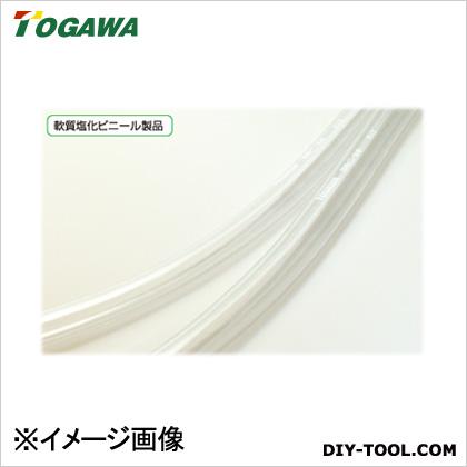 十川産業 ビニールチューブ(ホース) 透明 9mm×13mm×100m