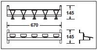 テラモト モップハンガーD型壁掛式(5本掛)   CE-491-205-0