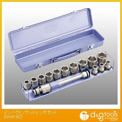 TONE/トネ TONEインパクト用ソケットセット(メタルトレー付)15pcs  NV4132