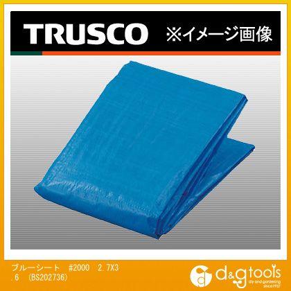爆安 トラスコ TRUSCO ブルーシート#2000幅2.7mX長さ3.6m 405 35 国内正規総代理店アイテム mm x 300