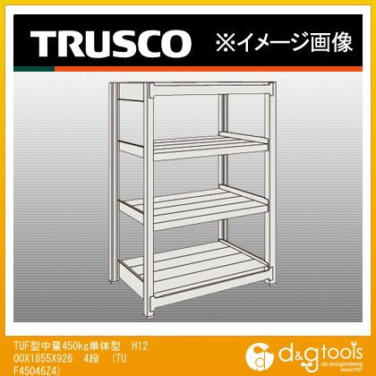 トラスコ TUF型中量450kg単体型 H1200X1855X926 4段  TUF45046Z4