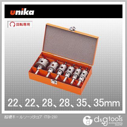 ユニカ 超硬ホールソーメタコア 電気工事用セット (TB-28)