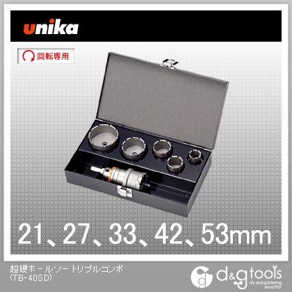 ユニカ 超硬ホールソー トリプルコンボ 電気工事用セット (TB-40SD)