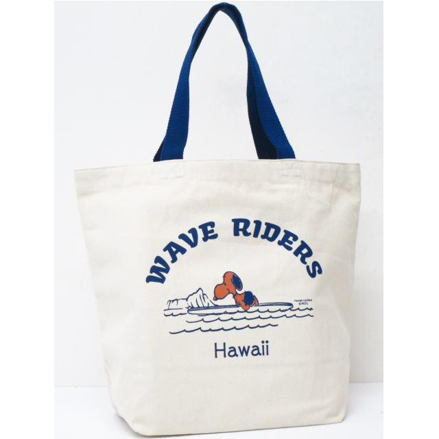 Moni Honolulu モニホノルル【ハワイ限定・Hawaii直輸入】【送料無料】日焼けスヌーピー トートバックWAVE RIDERS