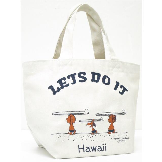 Moni Honolulu モニホノルル【ハワイ限定・Hawaii直輸入】【送料無料】日焼けスヌーピー ミニトートバックLETS DO IT×ナチュラル