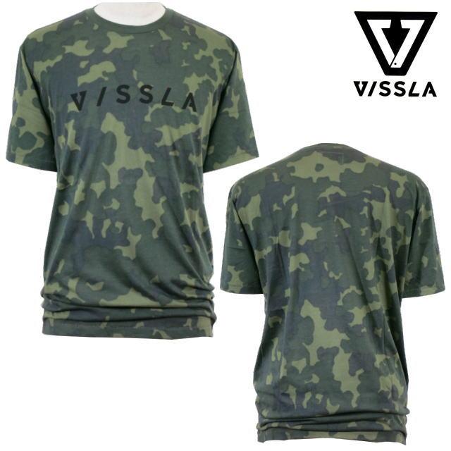 VISSLA ヴィスラ Tシャツサーフ・M9091STOメンズ・ユニセックス・Armyサイズ:L
