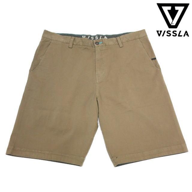VISSLA ヴィスラNO-See-Ums Wallks Shortsノーシーウォークショーツ・メンズハーフパンツ・カーキ・サイズ:38【送料無料】