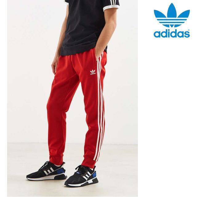 adidas Originals・アディダス オリジナルス【USA買付け】【即日発送】【送料無料】トレフォイル・ジャージ・トラックパンツSST TP TRACK CW 1276 TRACK PANTSサイズ:S-L・Red/Whiteメンズ・ユニセックス