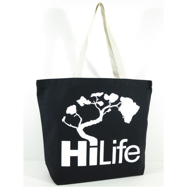 HiLife【ハイライフ】 【Hawaii発】【Hawaii直輸入】・トートバッグ Hi Life Large Tote Bag Black ブラック