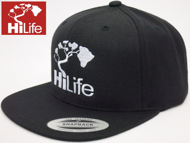 HiLife【ハイライフ】【Hawaii発】【ハワイ直輸入】【キャップ】帽子・SNAPBACK CAP THE CLASSICS・Black/White