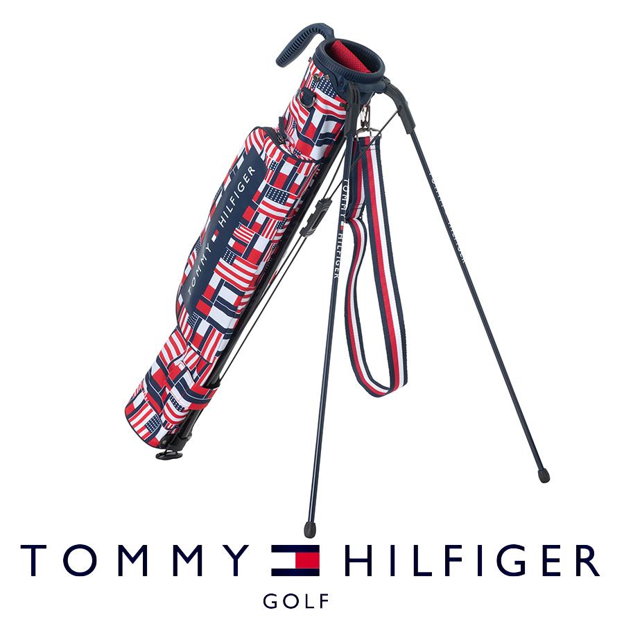 【割引クーポン有】セルフスタンドバッグ クラブケース メンズ レディース トミー ヒルフィガー MULTI FLAG HALF STAND THMG9FKZ