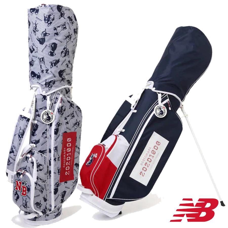 【GWも営業】【2100円引クーポン有】ボストンテリア スタンドキャディバッグ ニューバランス NEW BALANCE ゴルフ ゴルフバッグ 0980500