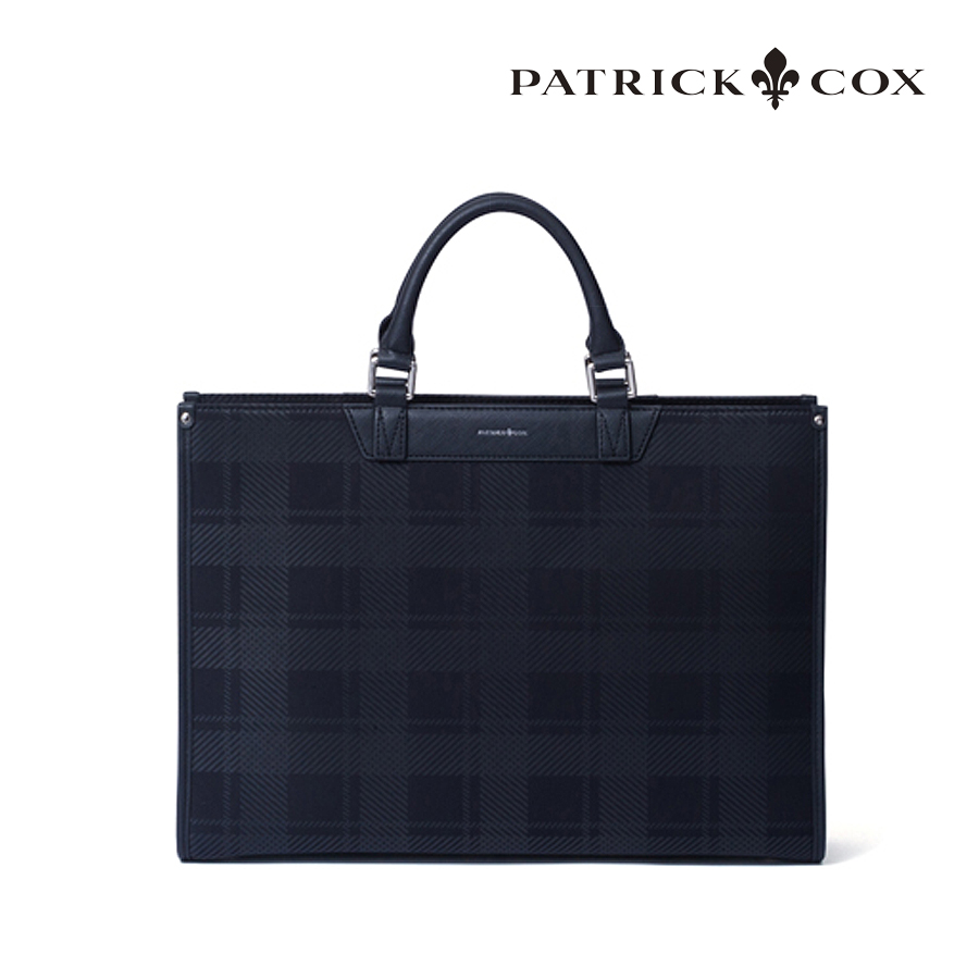 【GWも営業】  ブリティッシュチェック ビジネスブリーフバック パトリックコックス PATRICK COX PXMH0BV1