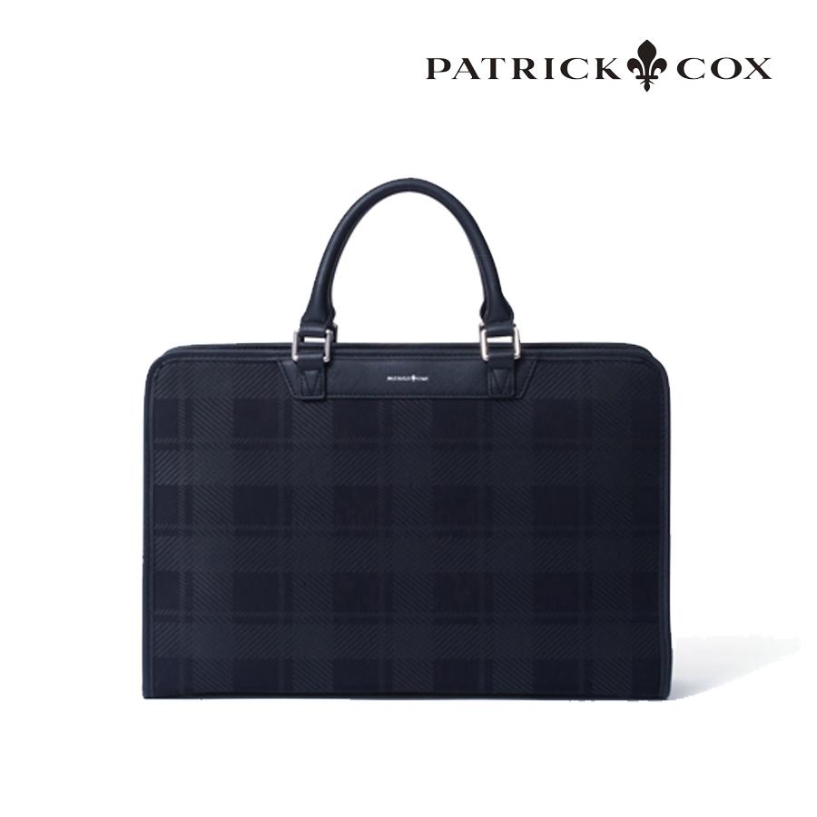 【GWも営業】 ブリティッシュチェック ビジネスブリーフバック パトリックコックス PATRICK COX PXMH0BV2