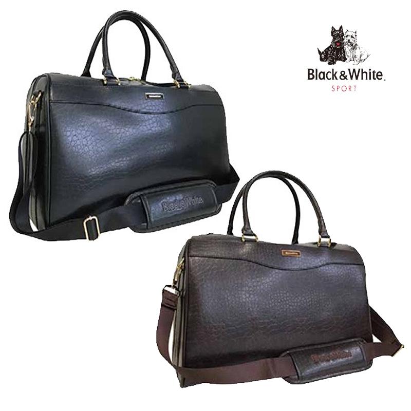 ブラック&ホワイト BWMG6ABA クラシック ボストンバッグ シューズ収納 ゴルフ用品 ゴルフバッグ ブラック 黒 ブラウン