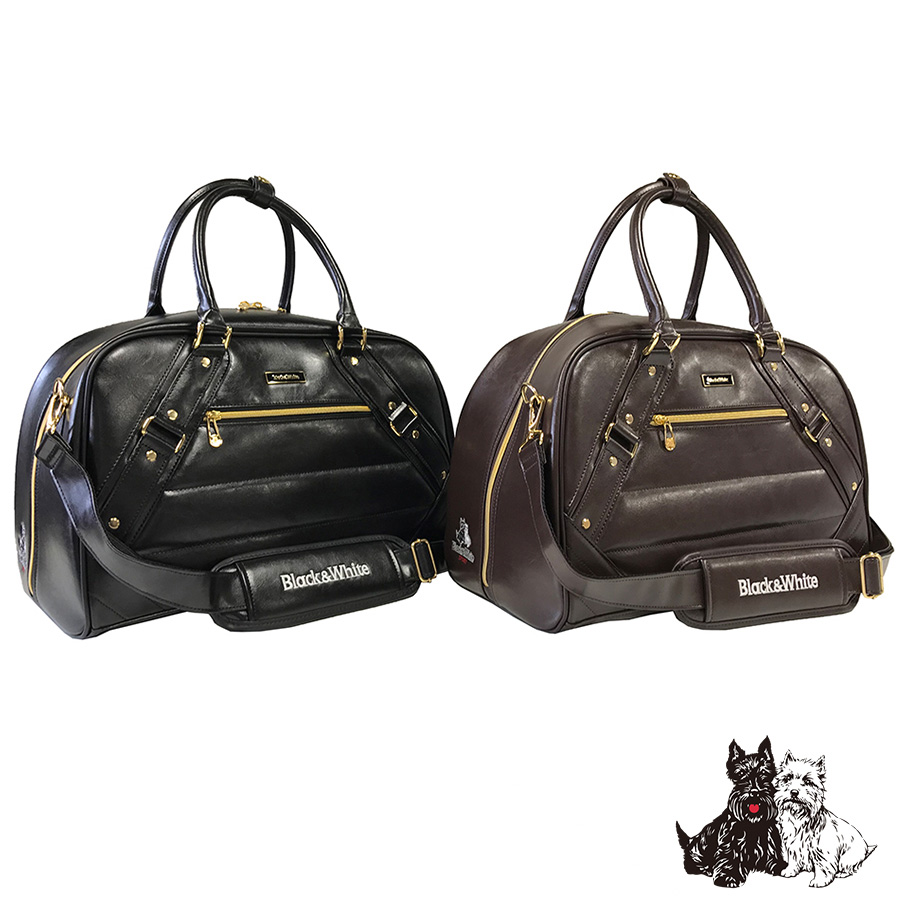 ブラック&ホワイト BWMG7BBA クラシックボストンバッグ ゴルフバッグ