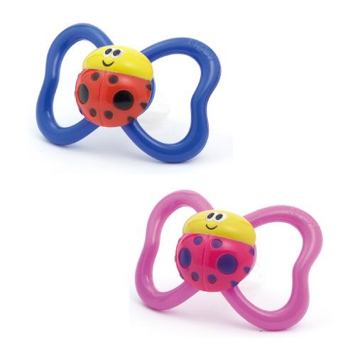 Teething ring Baru's (two sets): Lady bug & lady bug