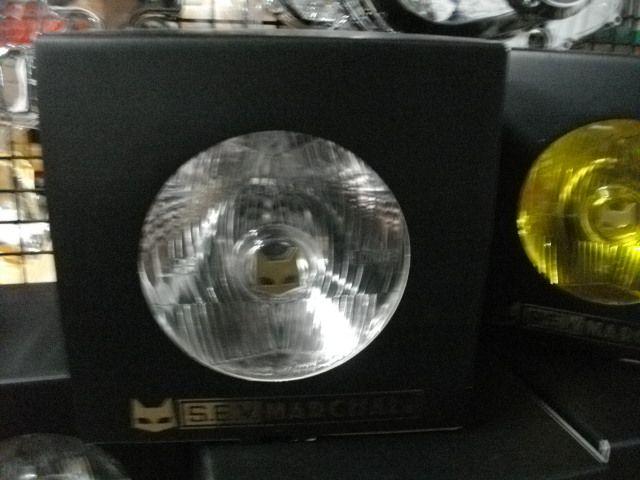 CB400D スーパホーク3 マーシャル ヘッドライト 888 MARCHAL ヘッドランプ 黒 クリアーレンズ