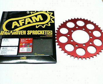 CBX400F 旧AFAM製 カラー スポロケ 赤