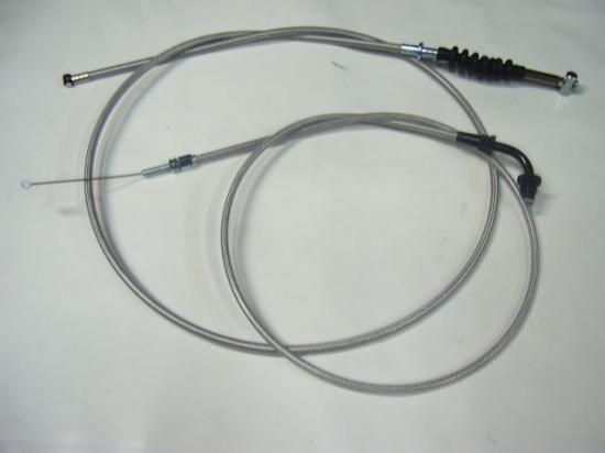 旧GSX400F 20cmロング メッシュ ワイヤーセット