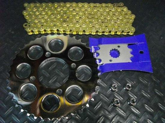 Z400FX ゴールドチェーン メッキ スプロケ セット