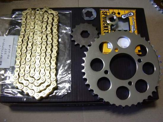 Z250FTA1~A3 ウイリー用メッキスプロケセット
