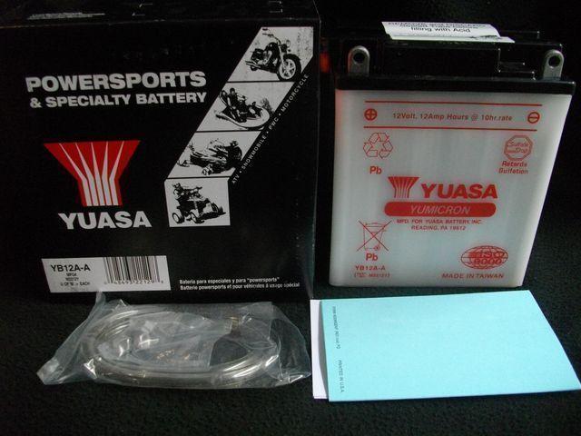 XS250 XS400 高品質 YUASA製 バッテリー