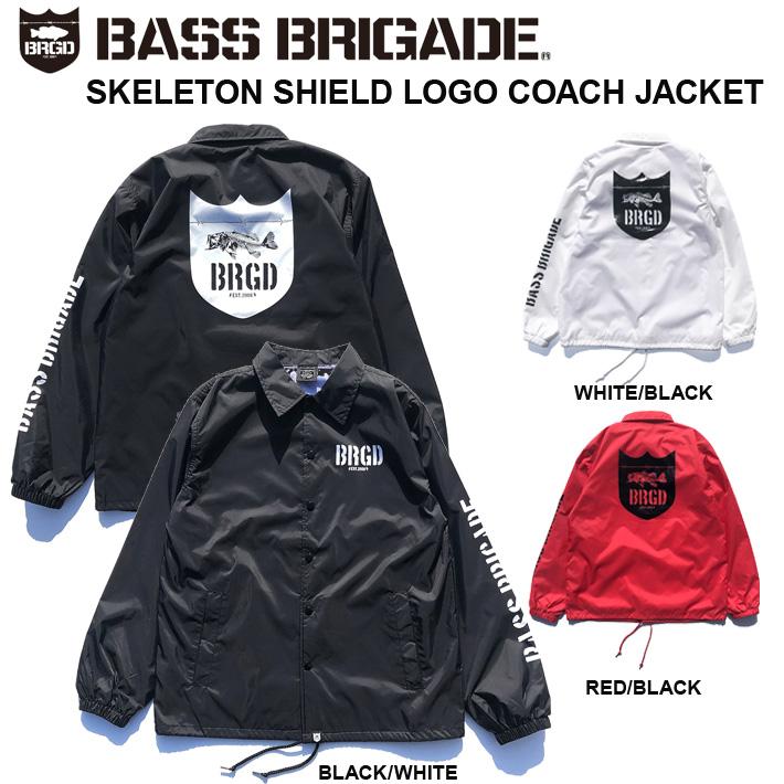 BASS BRIGADE バスブリゲードコーチジャケットSKELETON SHIELD LOGO COACH JACKETバスフィッシング DEPS デプス 送料無料