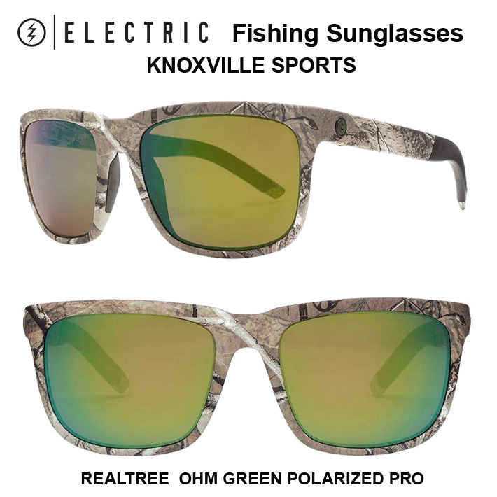 ELECTRIC FISHING SUNGLASS KNOXVILL SPORT エレクトリック サングラス スタッカー 偏光グラス バスフィッシング用KNOXVILL SPORT REALTREE CAMO/OHM+GREEN POLARIZED PRO送料無料